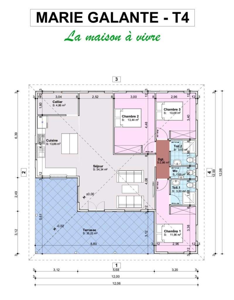 FICHE MARIE GALANTE T4  800x1024 - Maisons