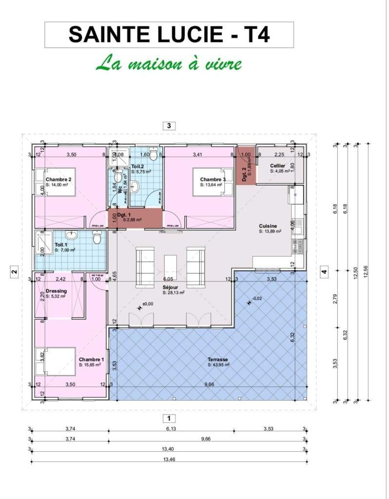 FICHE SAINTE LUCIE T4  798x1024 - Maisons