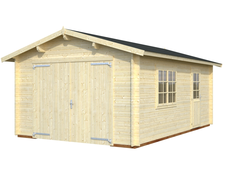 roger 19.0 m2 wooden gate visual white 900 - Garages