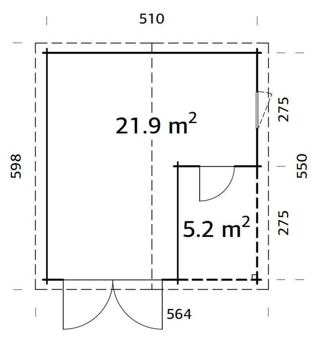 roger 21.9 m2 wooden gate pp 700 1 - Garages