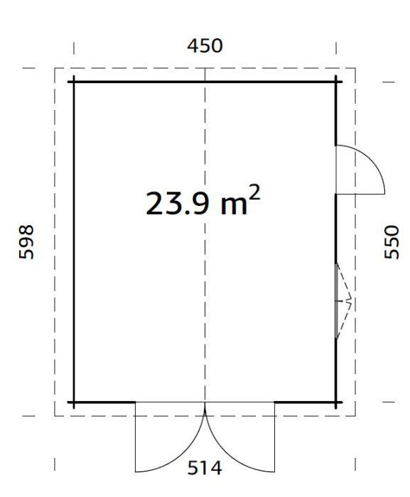 roger 23.9 m2 wooden gate pp 700 - Garages