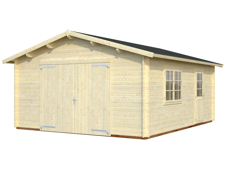 roger 23.9 m2 wooden gate visual white 900 - Garages
