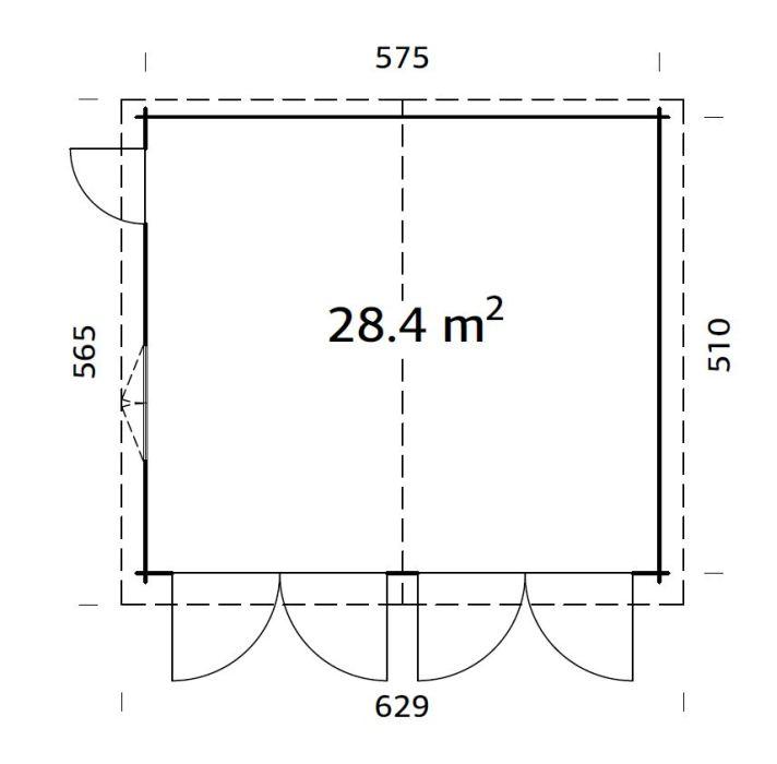 roger 28.4 m2 wooden gate pp 700 - Garages