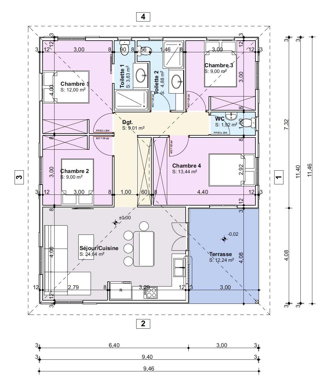 Plan de maison en bois martinique guadeloupe